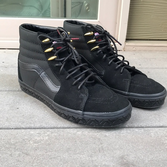 moderate price authorized site lace up in Marvel x Vans Black Panther Sk8 Hi Size 9.5